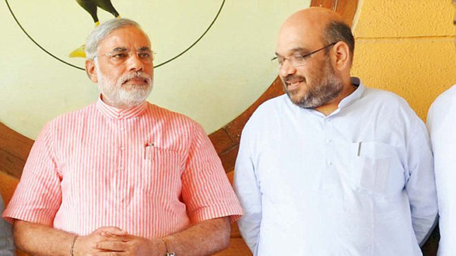 PM Modi, Amit Shah, delighted by BJP's win in Maharashtra civic polls