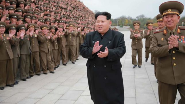 Party time: Kim Jong-un celebrates missile launch with grand banquet