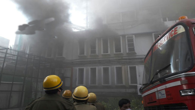 Fire breaks out at Times of India building in Delhi