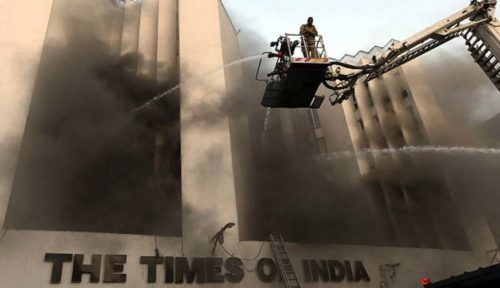 A day after, another fire at TOI Delhi office