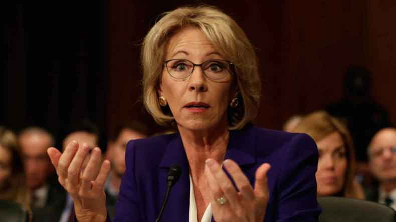 US Education Secretary Supports Making Life Worse For Trans Students