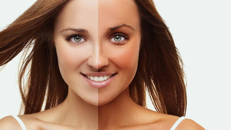 Tanning can contribute to skin ageing