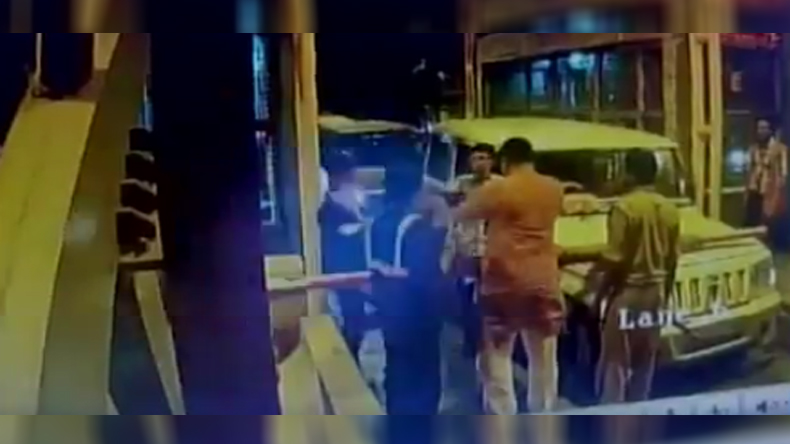 BJP-MLA-slaps-toll-plaza-employee