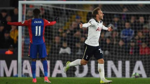 Eriksen keeps Tottenham's hope alive with stunner against Crystal Palace