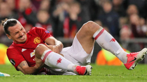 Man Utd's Ibrahimovic ruled out for rest of the season after injury against Anderlecht