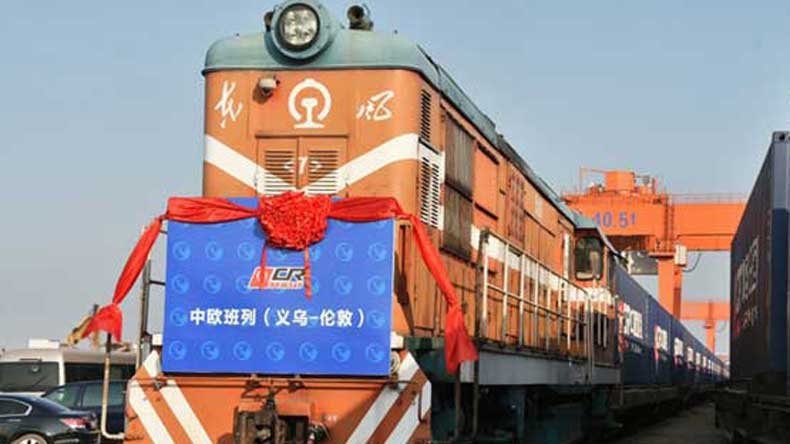 Freight train begins 7500-mile great haul to China