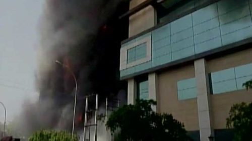 Massive fire at an electronics factory in Noida; 6 dead