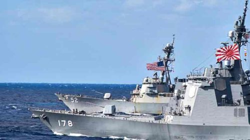 Japan and US test anti-missile ships during joint military exercises