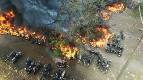 Over 200 vehicles gutted in Raipur station fire