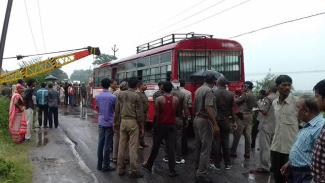 Over 2 dozen injured as high-tension wire falls on bus