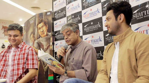 Kolkata: Director Sandip Ray and actor Saheb Bhattacharya during a reading session organised on Satyajit Ray's iconic detective Feluda 50th anniversary celebration in Kolkata on Dec 12, 2016. (Photo: IANS)