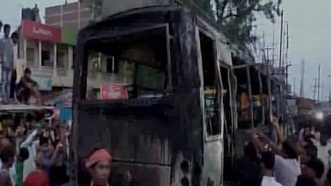 Bus catches fire in Nalanda district, Bihar; 9 dead