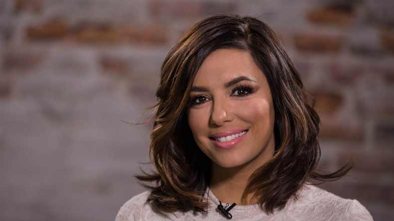 Image result for In black clothes, Eva Longoria feels uncomfortable