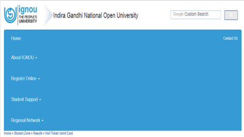 IGNOU hall ticket/admit card June 2017 released @ ignou.ac.in