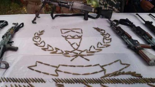 Jharkhand: Large amounts of arms & ammunition recovered in a joint operation