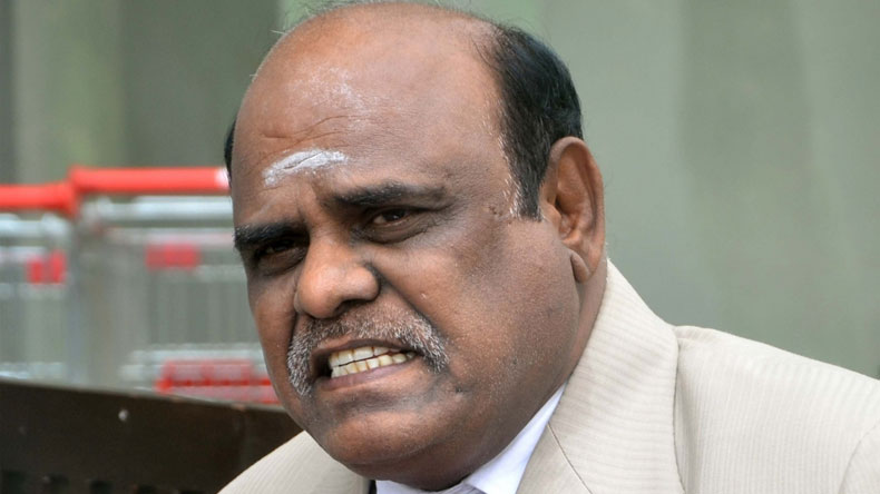 Karnan files mercy plea before President Pranab Mukherjee