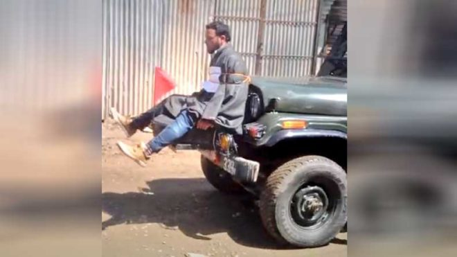 Army officer who tied youth to jeep in Kashmir gets clean chit