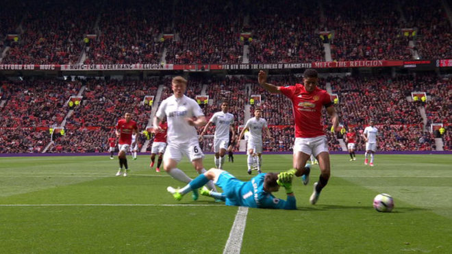 With a shameful dive, Manchester United levels with Swansea City