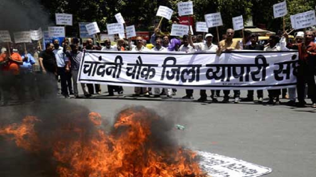 Old Delhi traders protest against Rent Control Act fearing eviction
