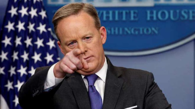 Sean Spicer refuses to comment on recorded Comey conversations