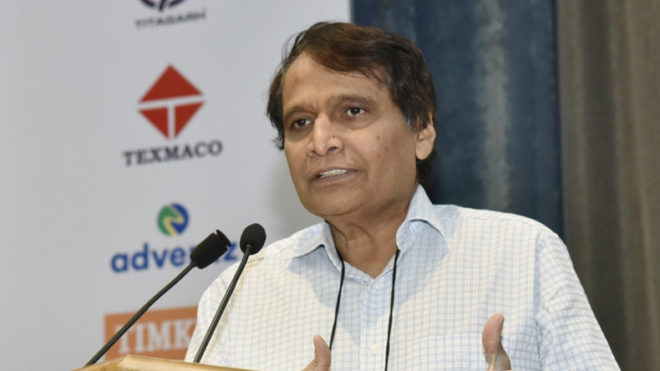 Union Railways Minister Suresh Prabhu