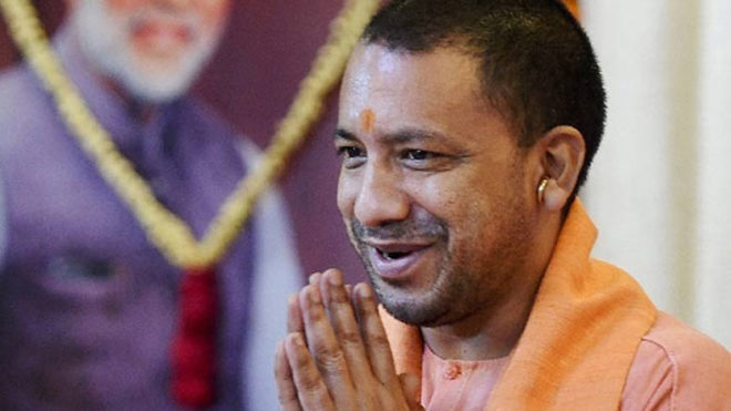 UP CM Yogi Adityanath meets students team going to US for Yoga Day