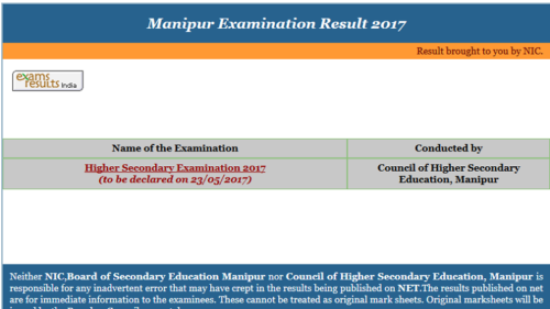Cohsem result 2017: Manipur class 12 HSE results declared @ manresults.nic.in