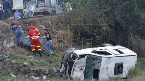 Atleast 21 killed in Brazil traffic pile-up