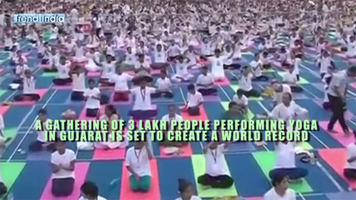 Trend India: 3 lakh yoga performers to make it to the Guinness Book of World Records
