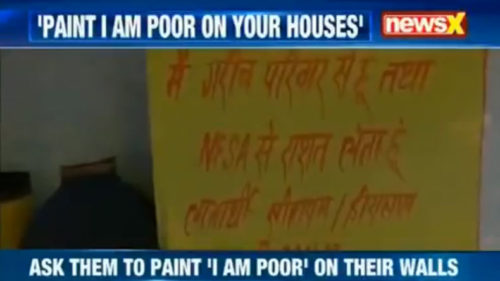 Rajasthan govt asks BPL families to paint 'I am poor' on house to get subsidy