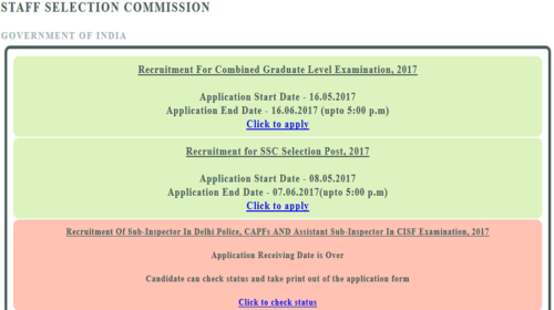 SSC CGL 2017: 16 June last date to apply; online application @ ssconline.nic.in