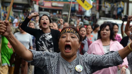 Tripura tribal party holds protests backing Gorkhaland