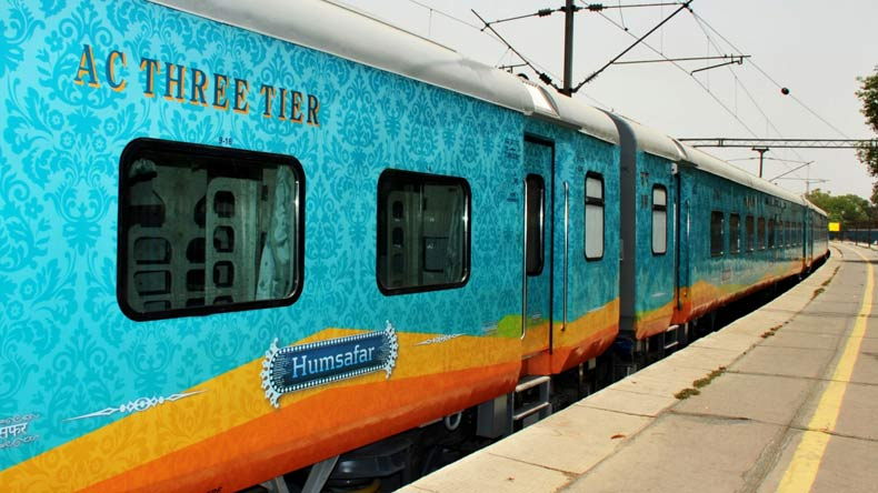 Prabhu inspects new coaches of Humsafar Express