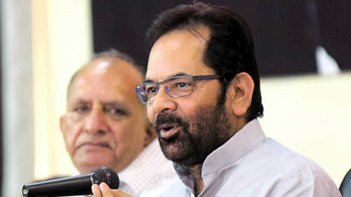 Mukhtar Abbas Naqvi denies existence of insecurity among minorities