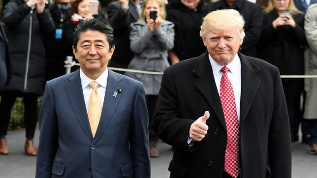 Abe, Trump discuss N Korean missile launch