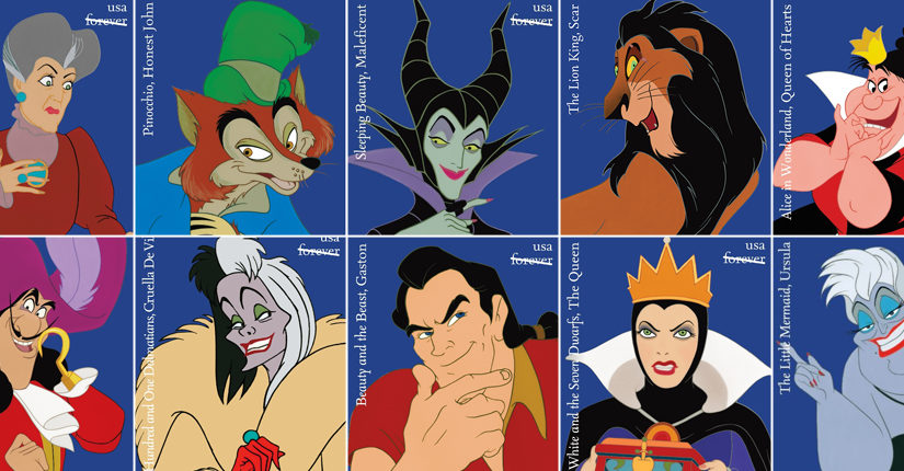 US Postal service releases new range of stamps featuring Disney villains