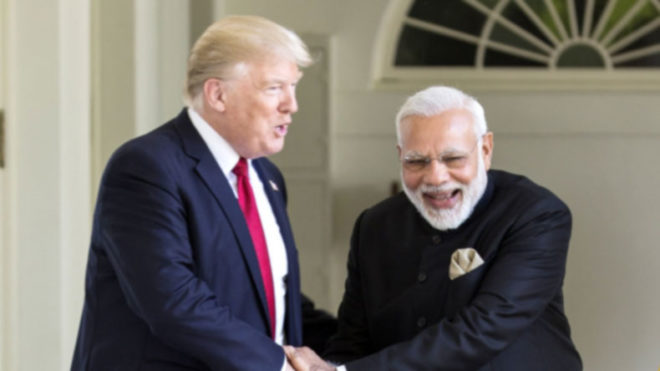 G20 summit US President Donald Trump walks up to PM Modi for impromptu chat