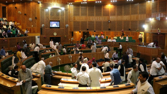 J&K assembly passes GST resolution amid protests