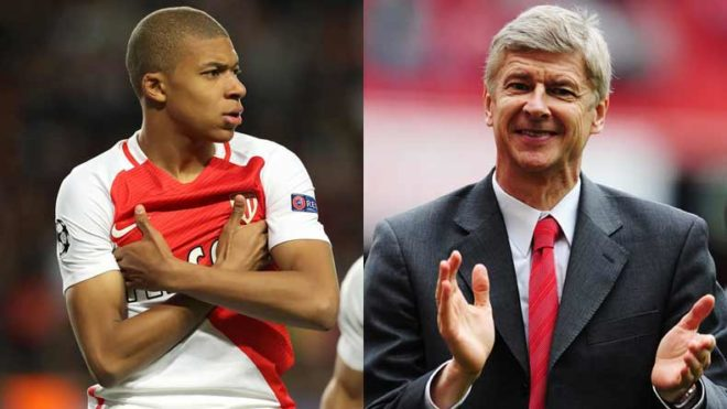 Arsene Wenger launches charm offensive for Kylian Mbappe