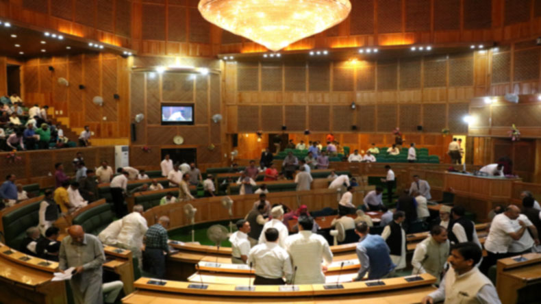 Srinagar: Jammu and Kashmir Assembly passes the GST resolution which was moved in the house yesterday by state finance minister, Haseeb Drabu amid noise and protest by the  opposition National Conference, Congress and independent MLAs who held that the pa