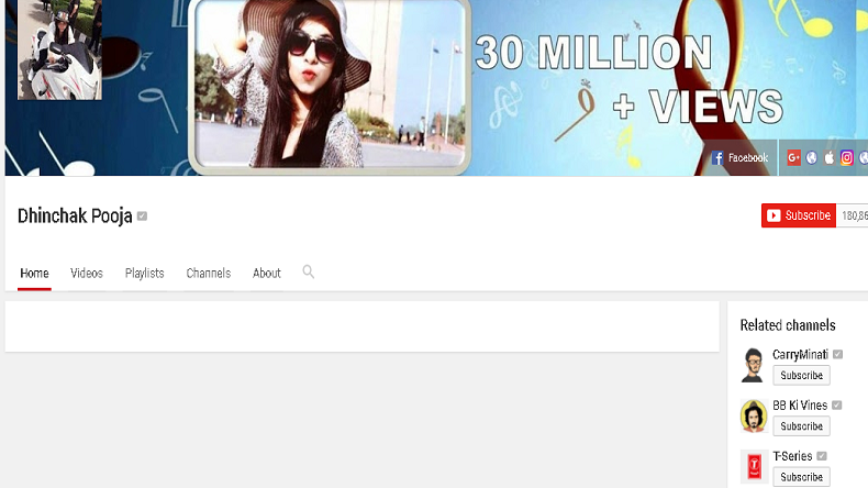 Dhinchak Pooja's videos deleted from YouTube over copyright issues