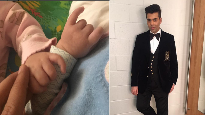 Karan Johar shares first picture of his twins Yash and Roohi