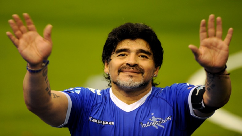 Diego Maradona denies trying to cash-in on Naples visit