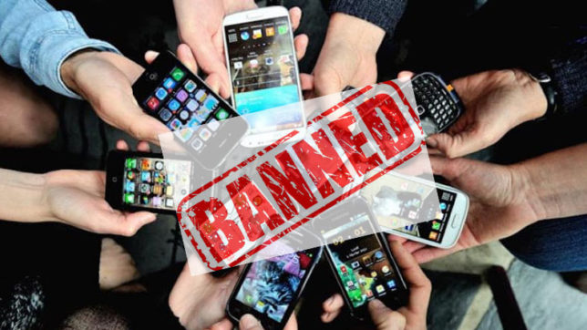 College bans use of mobile phones; social media and talking to girls