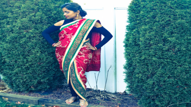 Play with your sari for a different you!