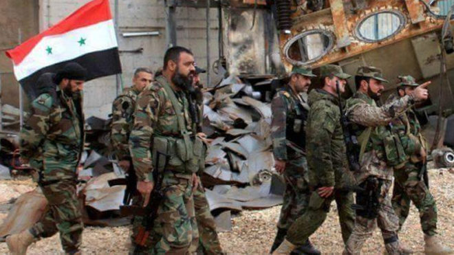 Syrian forces advance against rebels near Damascus