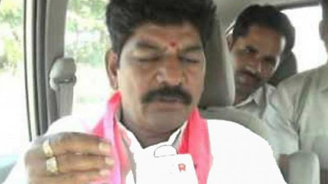 TRS MLA who misbehaved with woman Collector arrested, released