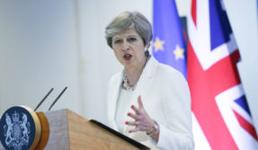 IS not yet defeated, still a threat: Theresa May