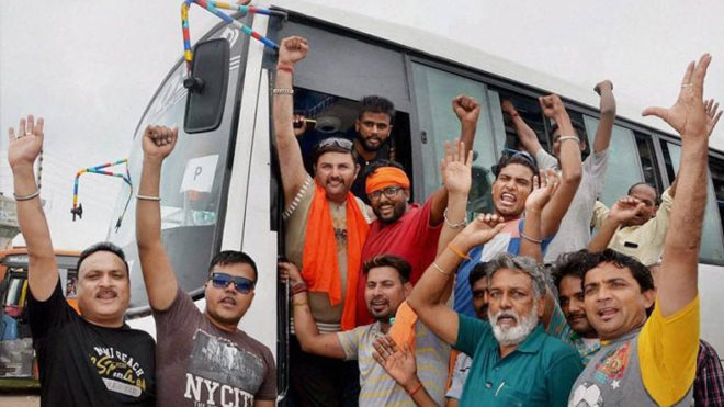 Another batch of 1,782 pilgrims leave Jammu for Amarnath Yatra