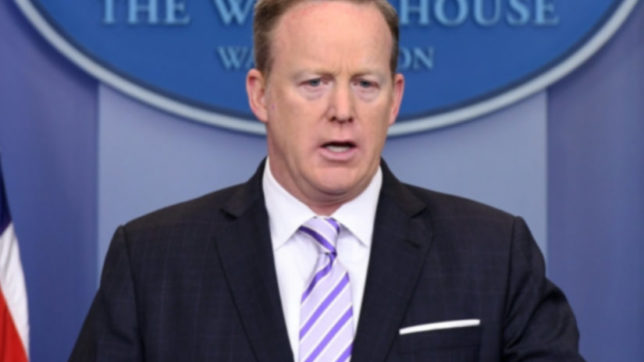 White House Press Secretary Sean Spicer. (File Photo: IANS)